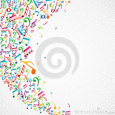 Free Colorful Music Notes Background Royalty Free Stock Photography - 32692707