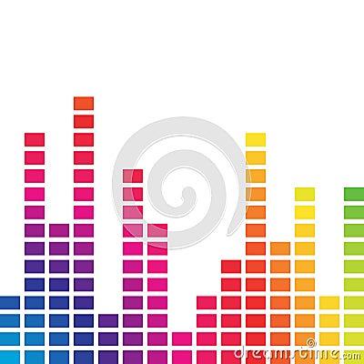 Colorful music volume