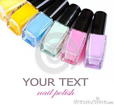 Free Colorful Nail Polish Bottles Stock Image - 32272971