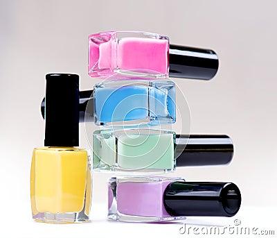 Colorful Nail Polish Bottles