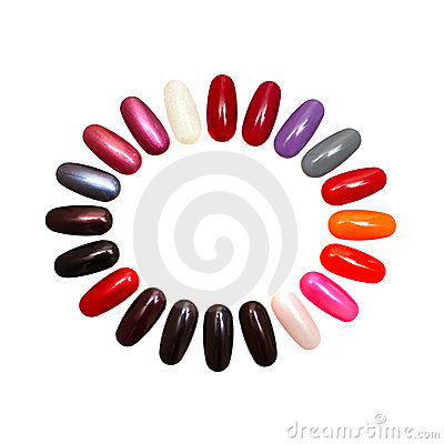 Colorful nails - design element