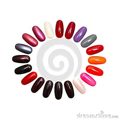Colorful nails - design element