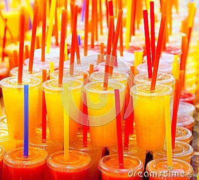 Free Colorful Natural Fresh Fruits Juice Royalty Free Stock Photo - 25047075