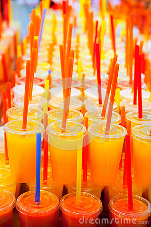 Free Colorful Natural Fresh Fruits Juice Royalty Free Stock Images - 25047109
