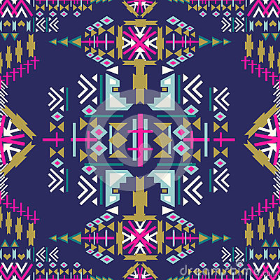 Free Colorful Navajo Seamless Pattern. Aztec Abstract Geometric Print. Ethnic Hipster Backdrop. Aztec Stile, Tribal Art. Used For Wallp Stock Images - 80507754