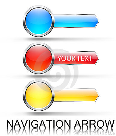 Colorful navigation arrows