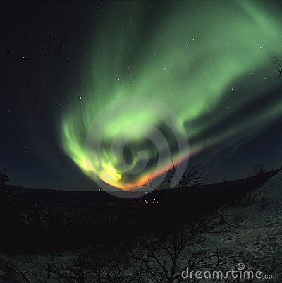 Free Colorful Northern Lights Display Royalty Free Stock Photo - 2066755