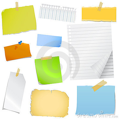 Free Colorful Note Paper Stock Image - 6999271