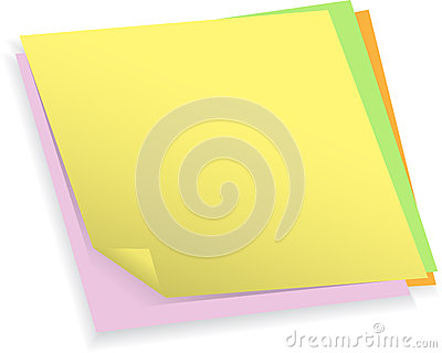 Colorful Note Papers Stock Image - Image: 25557161