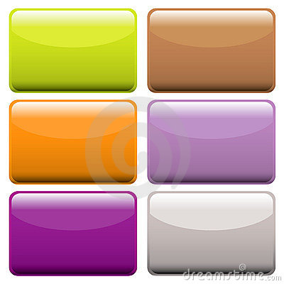 Colorful oblong web buttons