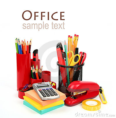 Free Colorful Office Supplies Royalty Free Stock Image - 21654516