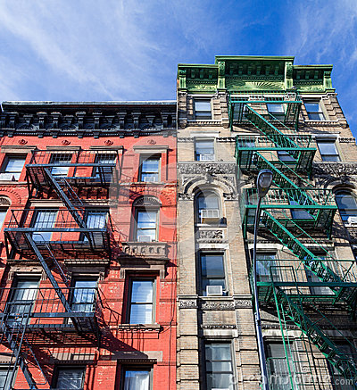 Free Colorful Old Buildings In Greenwich Village New York City Royalty Free Stock Images - 83456999