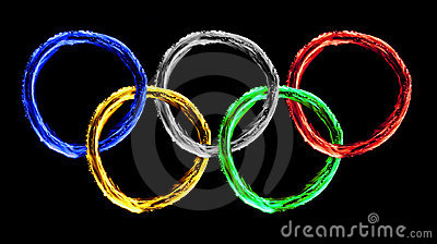 Colorful olympics fire texture Editorial Photo