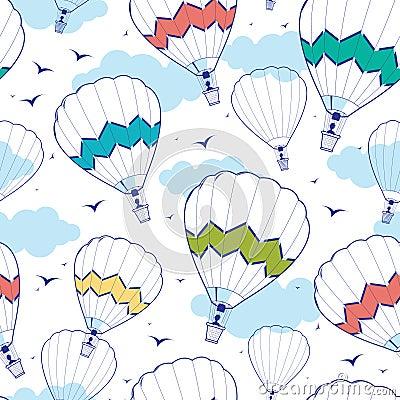 Free Colorful Ot Air Balloons Seamless Pattern Royalty Free Stock Photos - 36999288