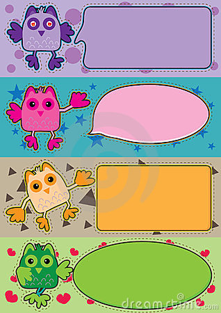 Colorful Owl Toy Banner_eps