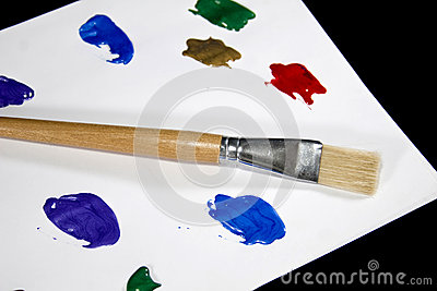 Colorful Paint Palette on  Black Background
