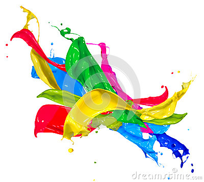 Free Colorful Paint Splashes Royalty Free Stock Image - 34750966