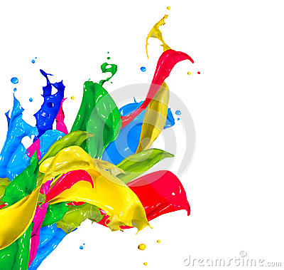 Free Colorful Paint Splashes Royalty Free Stock Photo - 34751755
