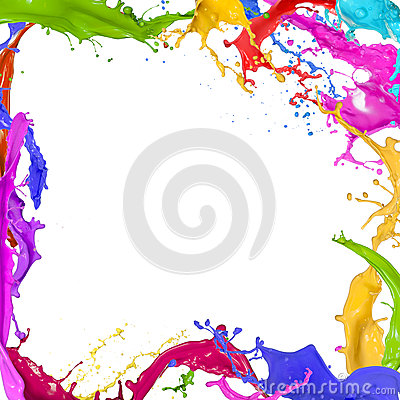 Free Colorful Paint Splashing Royalty Free Stock Photo - 32470775