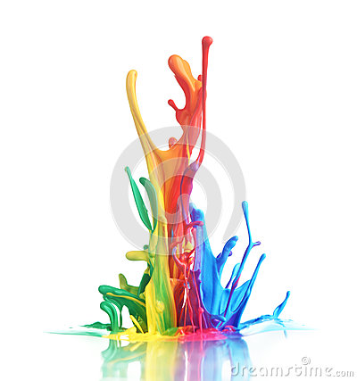 Free Colorful Paint Splashing Royalty Free Stock Images - 42226699