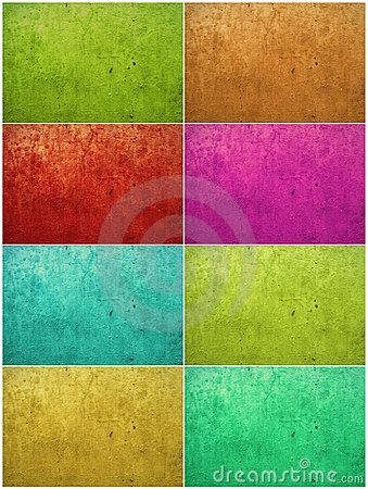 Colorful paint washed plaster background