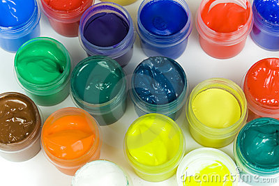 Colorful paints set