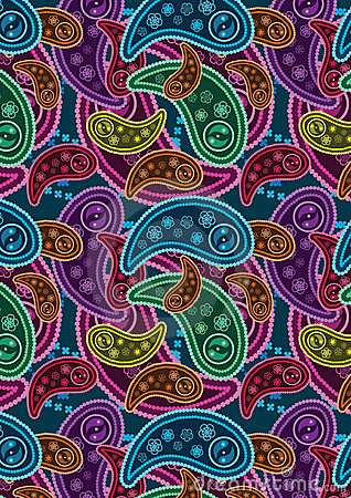 Colorful Paisley Background_eps