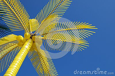 Colorful palm on beach