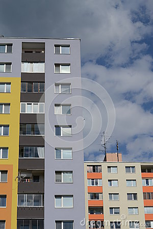 Colorful panel houses