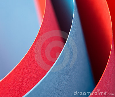 Colorful paper curve