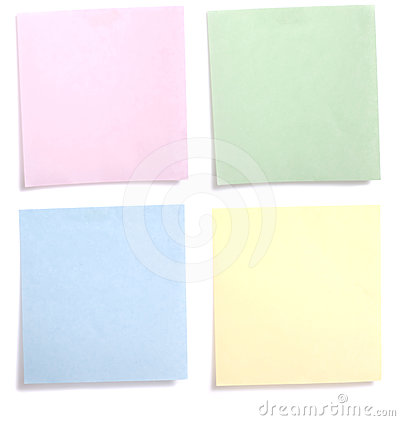 Colorful Paper Note
