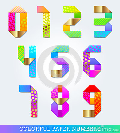Colorful paper numbers