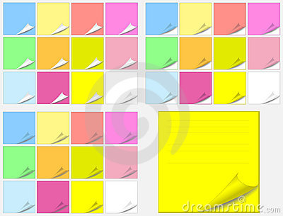 Colorful paper pads stickers