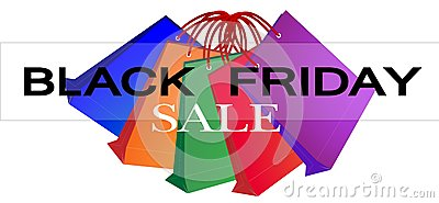 Colorful Paper Shopping Bags for Black Friday Prom