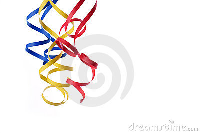 Colorful paper streamer
