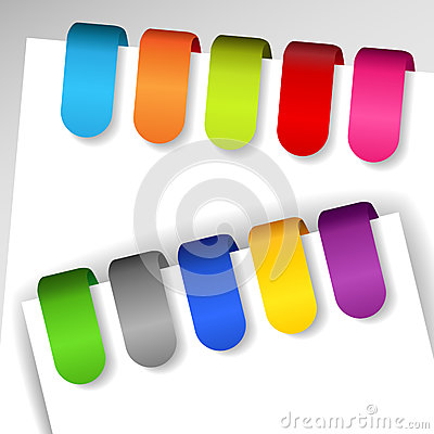 Colorful paper tags