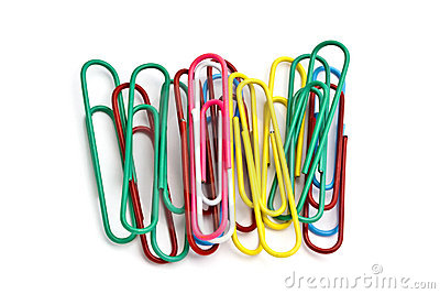 Colorful paperclips