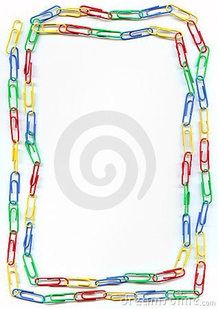 Free Colorful Paperclips Border Royalty Free Stock Photography - 4783137