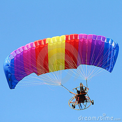 Free Colorful Paraglider Royalty Free Stock Photo - 22337455