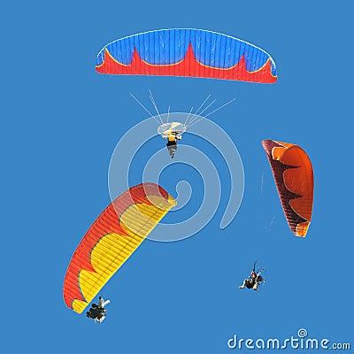 Free Colorful Paramotor Stock Image - 19070421