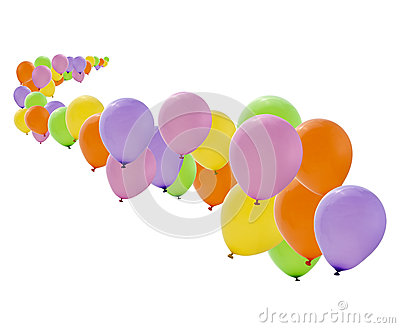 Colorful party balloons isolated
