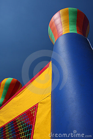 Colorful party bounce house