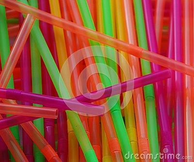 Colorful Party Straws