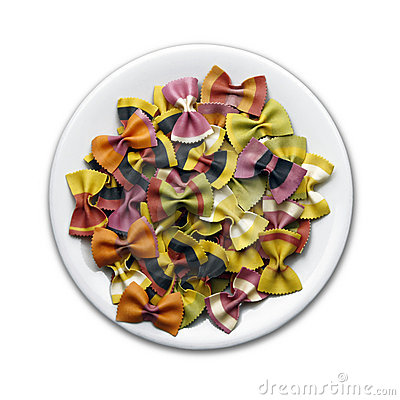 Colorful pasta plate