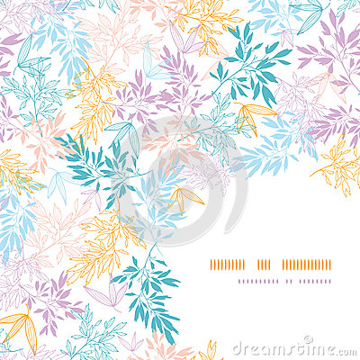 Free Colorful Pastel Branches Corner Seamless Pattern Royalty Free Stock Photos - 30827848