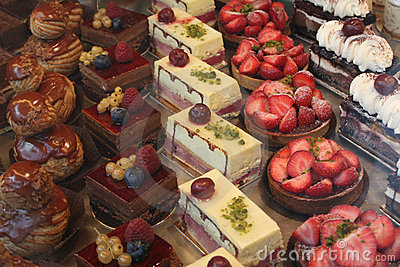 Colorful Pastry Display