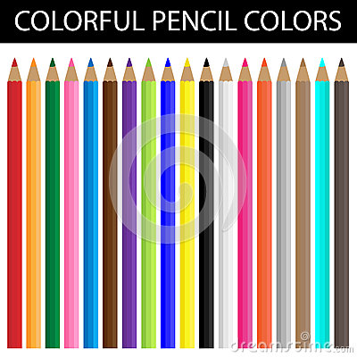 Colorful pencil colors