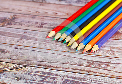 Colorful pencil crayons