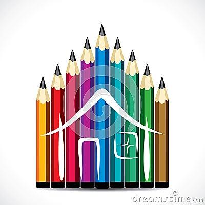 Colorful pencil home design