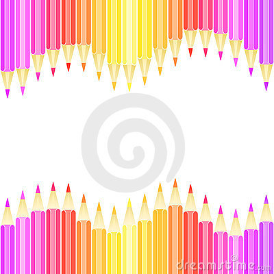 Colorful pencil seamless background